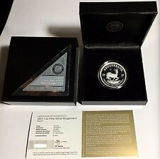 2017 PROOF South African 50th Privy 1st Ever 999 SILVER KRUGERRAND Only 15K RARE