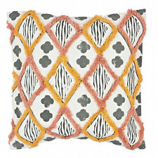 "Geometric Kilim 18x18"" Decorative Embroidered Cotton Print Cushion Pillow Cover"