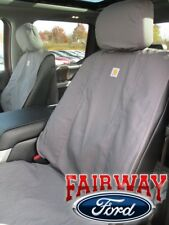 15 thru 18 F-150 Genuine Ford Carhartt Front Captain Chair Seat Covers GRAVEL