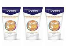 Clearasil Stubborn Acne Control 5 in 1 Weekly Scrub 5 oz 3 PACK EXP 6/2021