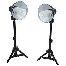 Set de Studio DynaSun Kit 2x PS01 400W con Soporte de luz, Reflector y Lámpara