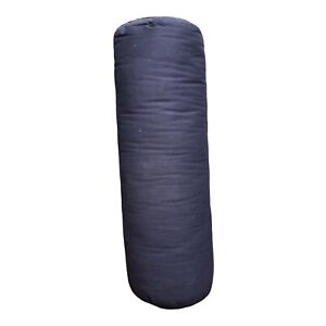(New) YogaAccessories MAX Support Deluxe Round Cotton Yoga Bolster, Blue