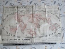 More details for 1950s the a-b-c world airways & shipping route map - aviation interest