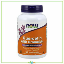 Now Foods Quercetin with Bromelain Supports Healthy Seasonal Immune,120 Veg Caps