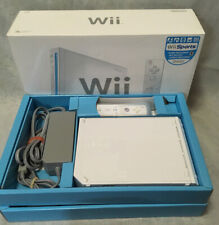 Nintendo Wii White Console Complete In Box W/ Wii Sports - Fully Tested!