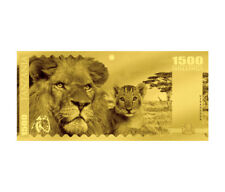 2018 Tanzania Big 5 - Lion Foil Note Gold Prooflike 1,500 Shilling Coin Sku51817
