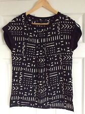 Next~Black & Ivory Blouse/Top~size 8~Brand New