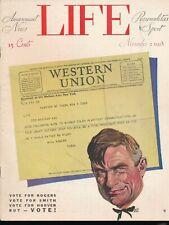 LIFE November 2, 1928 Humor Magazine WILL ROGERS Telegram Painted Cover VOTE!