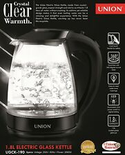 Union 1.8L Electric Glass Kettle For Sale