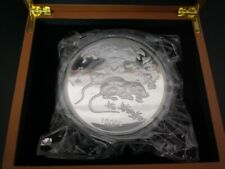 Chinese Lunar Calendar Mouse Rat 2008 1 kg kilo Silver Plated Coin Round Medal