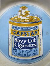 Old Porcelain CAPSTAN NAVY CUT Cigarettes Ashtray enamel 50 cigs medium str