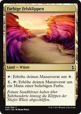 4x roccia colorata scogliere (painted ville) amonkhet Magic