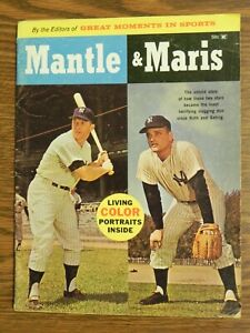 1961 Exclusive Roger MARIS & Mickey MANTLE Great Moments In Sports Magazine