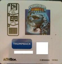 Thumpback Skylanders Giants Sticker/Code Only!