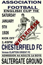 CHESTERFIELD - VINTAGE 1920's STYLE MATCH POSTER