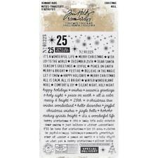 Tim Holtz Idea-ology Remnant Rubs Rub Ons - Christmas