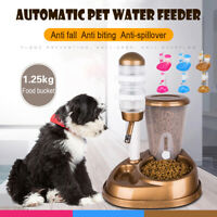 Fountain Bottle Cat Dog Pet Bowl Automatic Water Drinker Food Feede