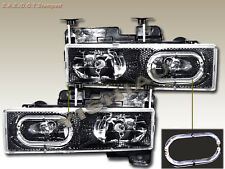 88-99 Chevy Full SIze Pick Up Tahoe GMC Suburban Yukon Headlights Halo CF