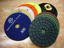 "4"" inch 100mm THK Diamond WET polishing pads pad disc marble granite Standard AA"