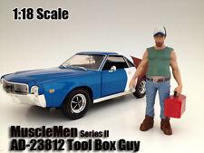 MUSCLEMEN TOOL BOX GUY FIGURE 1:18 SCALE DIECAST MODELS AMERICAN DIORAMA 23812