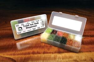 Custom Trout Ice Dubbing 12 Dispenser Fly Tying Dub