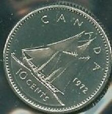 1972-PL Proof-Like Dime 10 Ten Cent '72 Canada/Canadian BU Coin Un-Circulated