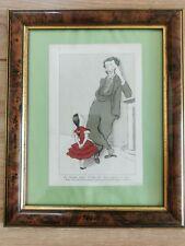 matthew arnold caricature satirical vtg max beerbohm print marked 1943 framed
