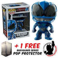FUNKO POP POWER RANGERS MOVIE BLUE RANGER VINYL FIGURE + FREE POP PROTECTOR