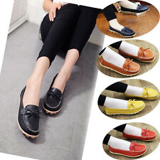 Women's Casual Leather Shoes Loafers Driving Lazy Peas Ballet Walking Flats New