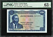 Kenya 20 Shillings 1972 Pick-8c CH UNC PMG 63 EPQ
