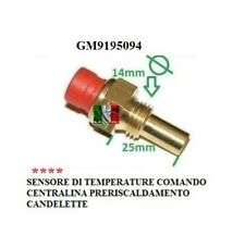 Sensor Temperature ECU Preheating GM9195094