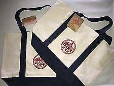 ❤️ 2 NEW Trader Joe's Reusable Canvas Eco Tote Bags (Heavy Duty)