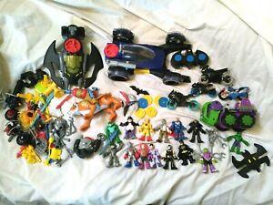 Imaginext - Batman DC Vehicles Figures & Accessories Large Bundle Inc Hulk.