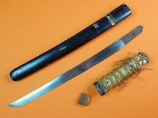 Antique Old Japanese Japan Tanto Fighting Knife Short Sword w/ Scabbard