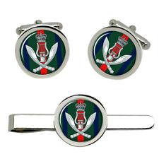 Gurkha Band, British Army Cufflinks and Tie Clip Set