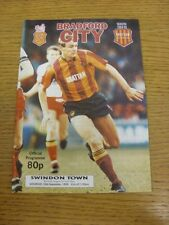 30/09/1989 Bradford City v Swindon Town  . Thanks for viewing this item, buy in