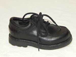 KENNETH COLE REACTION Toddler Boys Black Leather Lace-Up Oxford Dress Shoes 5 M