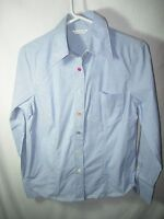 WOMENS BLUE RED richard malcolm COTTON BLEND CASUAL BLOUSE TOP SHIRT SIZE M 38