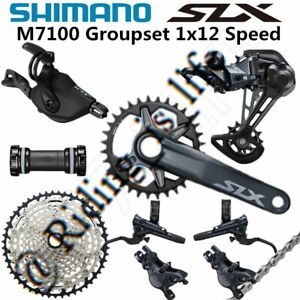 New SHIMANO SLX M7100/M7120 1x12 12-speed MTB Groupset 51T, 32T/34T/170MM/175MM