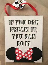 Disney Minnie Mouse Quote Door Sign Wall Plaque If You Can Dream It You Can Do