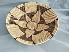 Handmade Coiled Natural Color  Basket Bowl 15.5'' W by 4'' T