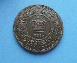 Canada, Nova Scotia, 1864 One Cent, as shown.