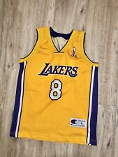 NBA LOS ANGELES LAKERS BASKETBALL SHIRT JERSEY CHAMPION  #24 KOBE BRYANT BOYS M