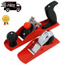 2 Piece Wood Plane Set Block Plane & Smoothing Plane With Carbon Steel Blades