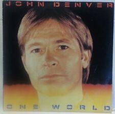 JOHN DENVER - vintage vinyl LP - One World - w/sleeve & words
