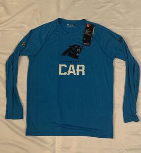 Men's Carolina Panthers Under Armour NFL Combine Lockup Tech Shirt NWT Small