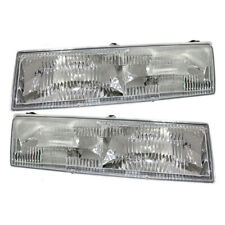 Pair Set Headlights Headlamp Lens with Housing for Mercury Cougar Grand Marquis