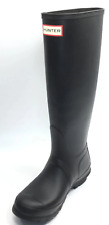 Hunter 'Original Tall' Rain Women's Boot ( Matte ) - Black [ Size 6US ]