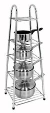 Buckingham 5 Tier Chrome Plated Pots & Pan Stand, 90cm, RRP £29.99