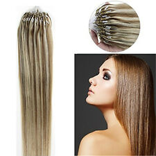 """Loop Micro Ring Beads Tip Remy Human Hair Extensions Double Drawn 16""""18""""20""""22""""1g"""